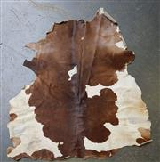 Sale 8741 - Lot 1010 - Brown & White Cow Hide (186 x 153cm)