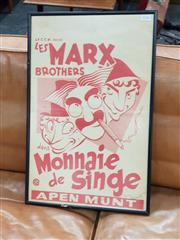 Sale 8741 - Lot 1036 - Framed Poster Les Marx Brothers