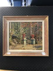 Sale 8903 - Lot 2001 - Alexandra Asovsteff Entrance of the Kirribilli House oil on board, 36 x 41cm, signed, inscribed verso