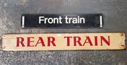 Sale 8930 - Lot 1013 - Timber Vintage Train Signs x 2