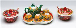 Sale 9164 - Lot 256 - A polychrome small Chinese tea suite