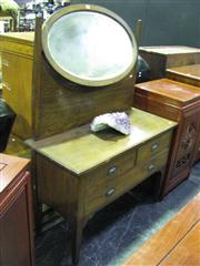 Sale 7937A - Lot 1111 - Dressing Chest with Oval Mirror