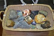 Sale 8115 - Lot 1050 - Basket of Mixed Geology Pieces