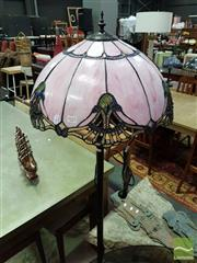 Sale 8532 - Lot 1027 - Leadlight Shade Standard Lamp