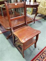 Sale 8657 - Lot 1066 - Converting Library Step Chair