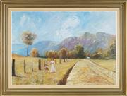 Sale 8764 - Lot 590 - Craig Taylor (1952 - ) - Strolling through Kangaroo Valley, 1979 60 x 95cm