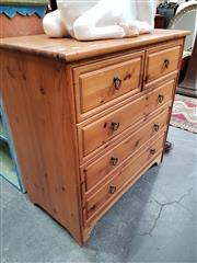 Sale 8843 - Lot 1094 - Pine Chest of Five Drawers