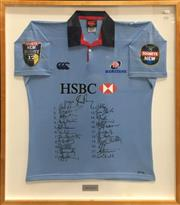 Sale 8863S - Lot 24 - 2004 NSW Waratahs Signed Jersey, in frame