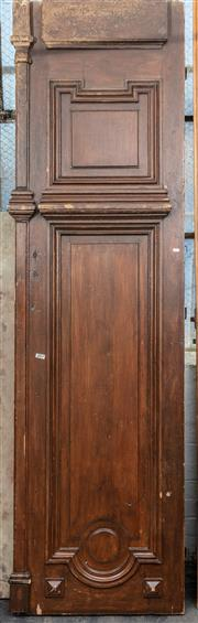 Sale 8942H - Lot 44 - An Antique pair of French pine entry doors, Height 241cm x Width approx. 130cm