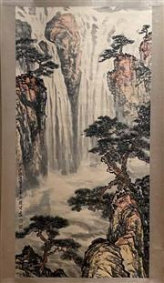 Sale 8980S - Lot 608 - Chinese Landscape Scroll, Ink and Colour on Paper