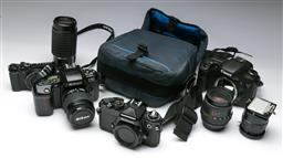 Sale 9144 - Lot 42 - Collection of cameras and parts