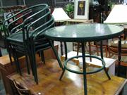Sale 7937A - Lot 1160 - Green Five Piece Cafe Setting Including Table And Four Chairs