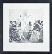 Sale 8173A - Lot 74 - Norman Lindsay (1879 - 1969) After. - Fortune's Fools 25 x 25cm