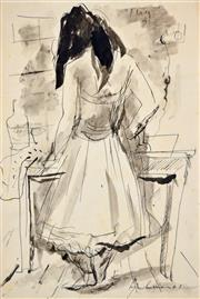 Sale 8401 - Lot 590 - Francis Lymburner (1916 - 1972) - Sketches (and correspondence from Sir Warwick Oswald Fairfax ) various sizes