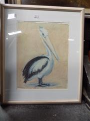 Sale 8437 - Lot 2017 - Pair of Framed Decorative Prints Pelican