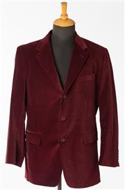 Sale 8550F - Lot 119 - Two gents velvet evening jackets, one Rossini, one hand tailored in green and maroon, size L.