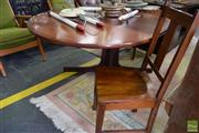 Sale 8532 - Lot 1275 - Australian Jarrah Extension Dining Table with Two Dining Chairs by Catt