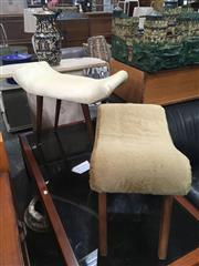 Sale 8740 - Lot 1457 - Vintage Upholstered Dresser Stool and Another