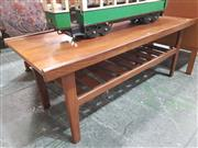 Sale 8872 - Lot 1062 - 1960s Teak Coffee Table with Magazine Shelf