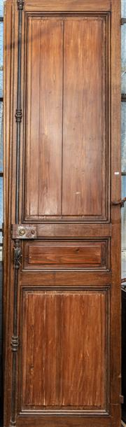 Sale 8942H - Lot 46 - An Antique pair of French oak and pine entry doors, Height 253cm x Width approx. 130cm