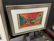 Sale 9045 - Lot 2087 - Yuval Wolfson (1966 - ), Under Your Wing, serigraph, ED. 56/90, frame: 48 x 65 cm, signed lower right -