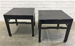Sale 9151 - Lot 1339 - Pair of Chinese black lacquered side tables (h:51 w:56 d:56cm)