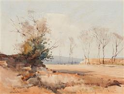 Sale 9150A - Lot 5064 - GEOFFREY KEITH TOWNSHEND (1888 - 1969) Road to the Quarry, Terry Hills watercolour 32.5 x 43 cm (frame: 52 x 63 x 3 cm) signed lower...
