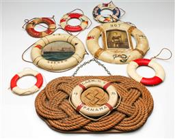 Sale 9190 - Lot 63 - A collection nautical related items inc hand painted example