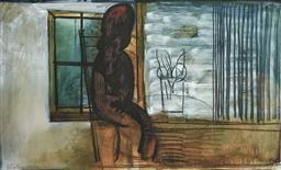 Sale 9214A - Lot 5029 - CHARLES BLACKMAN (1928 - 2018) Girl by a Window archival pigment print on Artist Paper (unframed) 112 x 177 cm signed lower right