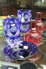 Sale 8276 - Lot 65 - Thomas Webb Bowl with Other Glass Pieces