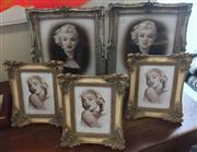 Sale 8310A - Lot 279 - Two large and three small decorative photo frames, largest 39 x 33cm