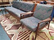 Sale 8435 - Lot 1018 - Fred Lowen Three Seater Fold Out Lounge and Armchair