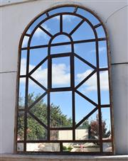 Sale 8972H - Lot 85 - Large antique French Iron window.  2m Height 1.25m Wide
