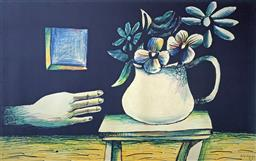 Sale 9214A - Lot 5030 - CHARLES BLACKMAN (1928 - 2018) Hand & Vase of Flowers archival pigment print on Artist Paper (unframed) 112 x 177 cm signed lower right