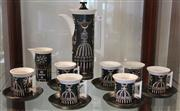 Sale 7950 - Lot 48 - Portmeirion Pottery Magic City Coffee Service designed by Susan Williams-Ellis