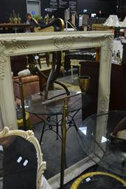 Sale 8031 - Lot 1077 - White Framed Bevelled Edge Mirror