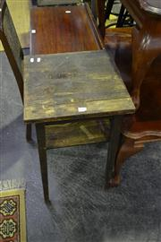 Sale 8134 - Lot 1049 - Balloon Back Chair And An Oak Side Table