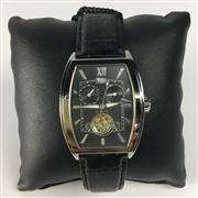 Sale 8283B - Lot 18 - A WOHLER AUTOMATIC WRISTWATCH, with two subsidiary dials and moon phase apperture with revealed escarpment on leather band, new in g...