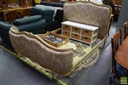 Sale 8550 - Lot 1263 - French Double Bed and Side Rails
