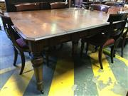 Sale 8666 - Lot 1093 - Late Victorian Oak Patent Extension Dining Table, with four butterfly leaves stored under the top & brass plaques for a Gold Medal,...