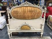 Sale 8782 - Lot 1757 - French Style Bed with Buttoned Back