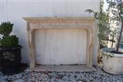 Sale 8972H - Lot 39 - Fine French style travertine marble fireplace with matching heart stone 1.7m Wide 1.27m Height 38cm Depth