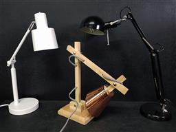 Sale 9254 - Lot 2396 - 3 Desk Lamps with Leifheit Telegant 100 Wall Mounted Dryer
