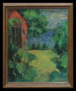 Sale 7919 - Lot 588 - William Frater - House and Garden 64 x 53cm