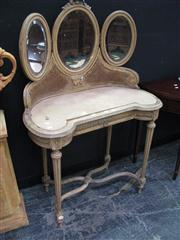Sale 7972A - Lot 1012 - Mirrored Back Dressing Table with Marble Top