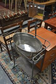 Sale 8161 - Lot 1059 - Metal Mirrored Back Wash Stand