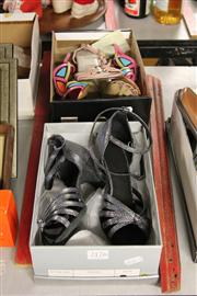 Sale 8173F - Lot 397 - THREE PAIRS OF PARTY SANDLES; Brazilio (37),  Candy (6.5) and black and silver (3.5).