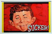 Sale 8261A - Lot 24 - A framed Mad Magazine poster,