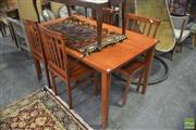 Sale 8323 - Lot 1070 - Timber 5 Piece Dining Suite