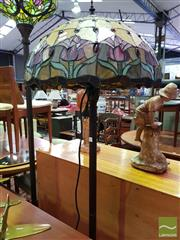 Sale 8532 - Lot 1065 - Leadlight Shade Standard Lamp